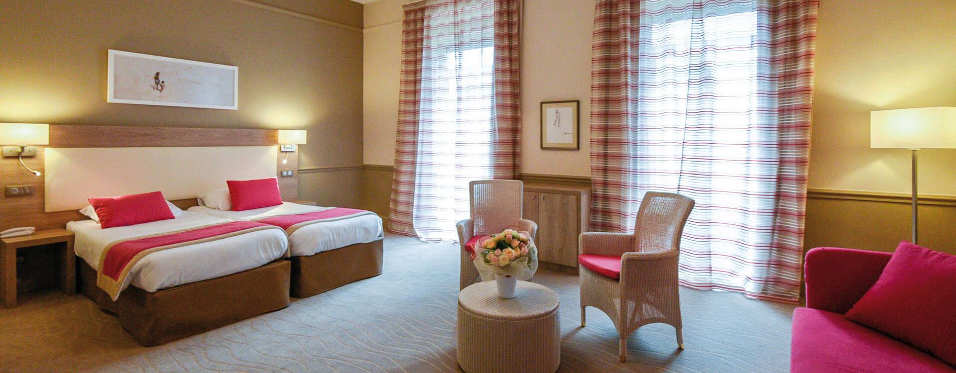 Chambre privilège vue ville - Hôtel*** Royal Westminster à Menton