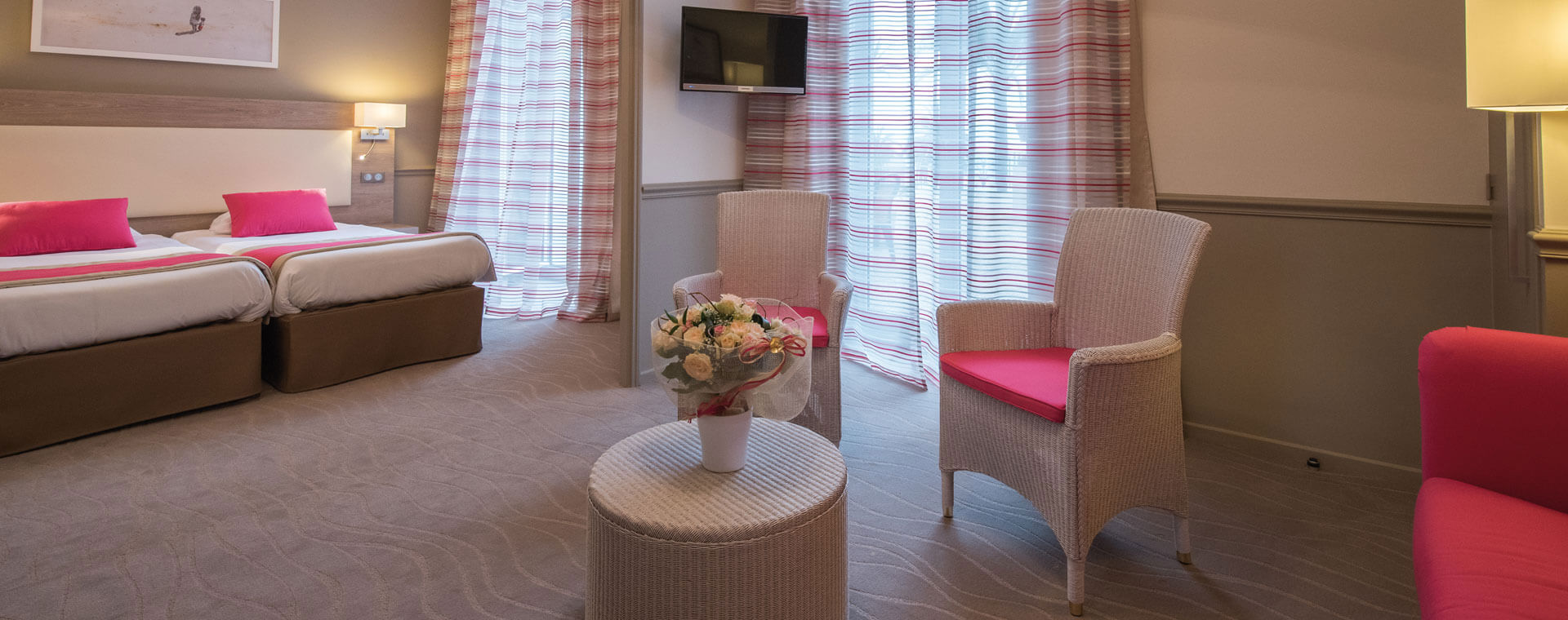 Chambre privilège - Hôtel*** Royal Westminster à Menton