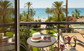 chambre vue mer - hotel royal westminster menton