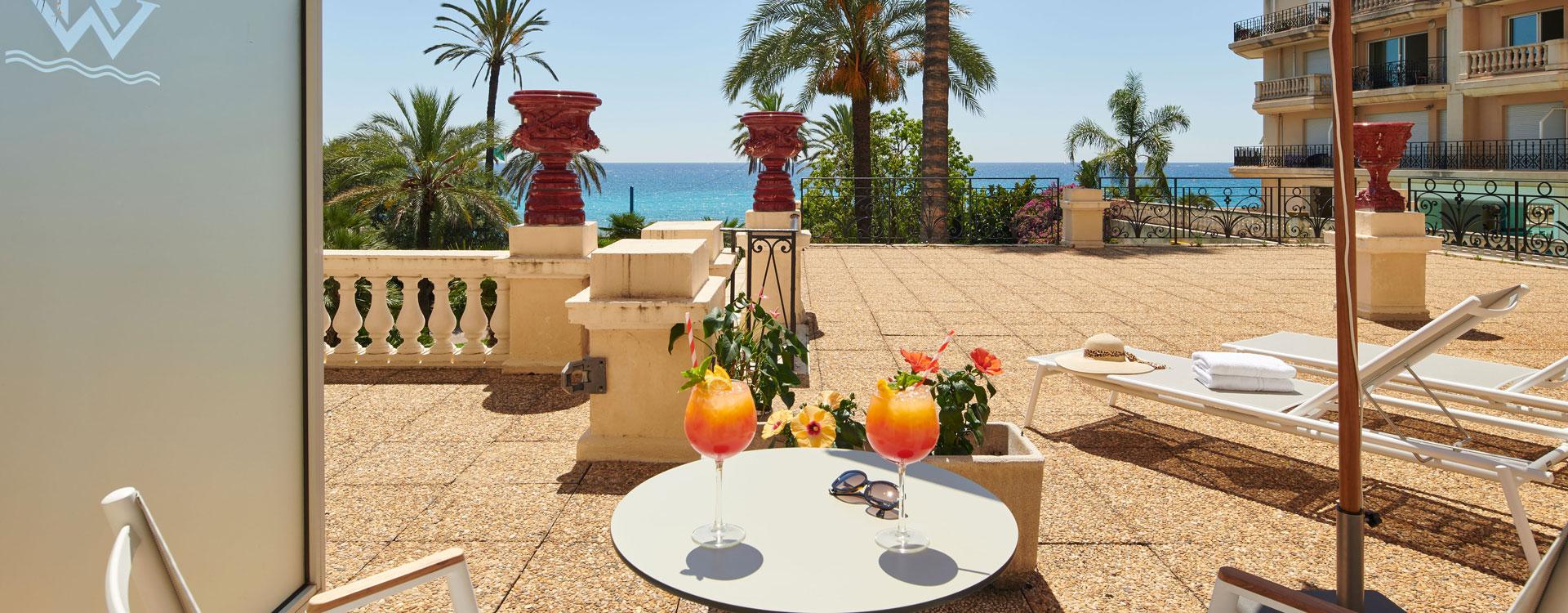 hotel avec terrasse vue mer - menton